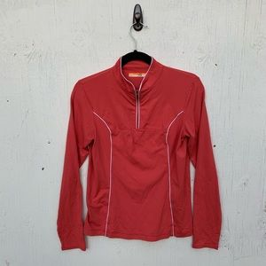 Lucy Orange Half Zip Running Top